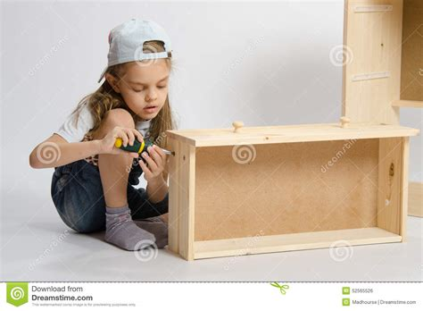 Little  Ee    Ee   In Overallsllector Of Furniture Making Box
