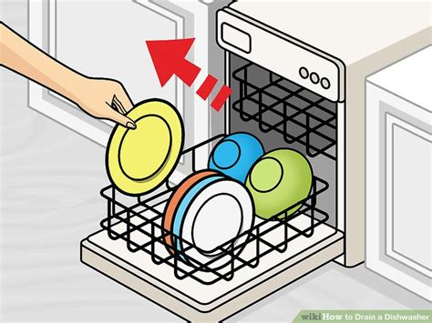 kitchen sink drain 2 easy ways to drain a dishwasher with pictures wikihow