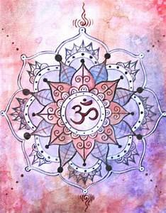 $30 00 Yoga Art - Shanti - Mandala Print - Crown Chakra