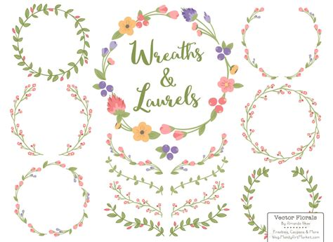 coral floral wreath clipart   cliparts