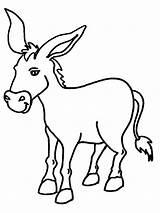 Donkey Ezel Burro Leukekleurplaten Dibujosparaimprimir Ezels 1001coloring Coloringpage sketch template