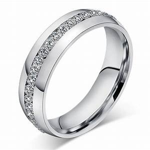 men women stainless steel wedding engagement silver band With women s stainless steel wedding rings