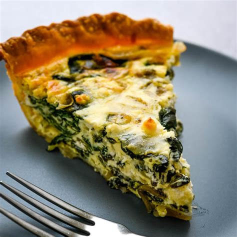 fresh spinach  goat cheese quiche garlic zest