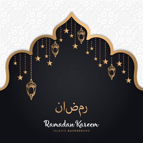 vector ramadan kareem greeting card design