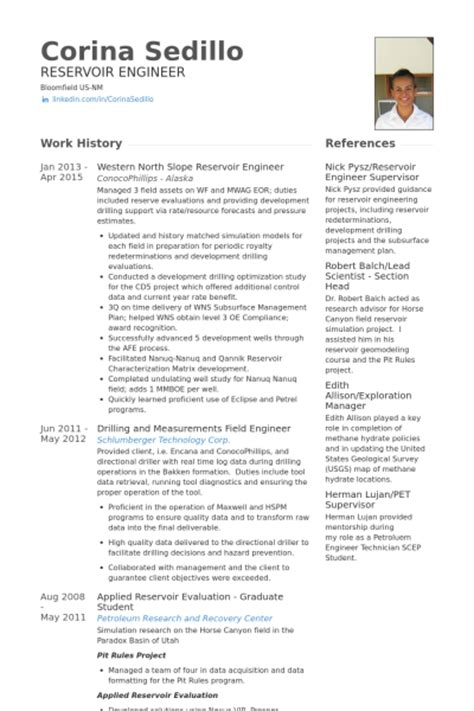 Reservoir Engineer Resume Templates graduate mechanical engineer resume sle
