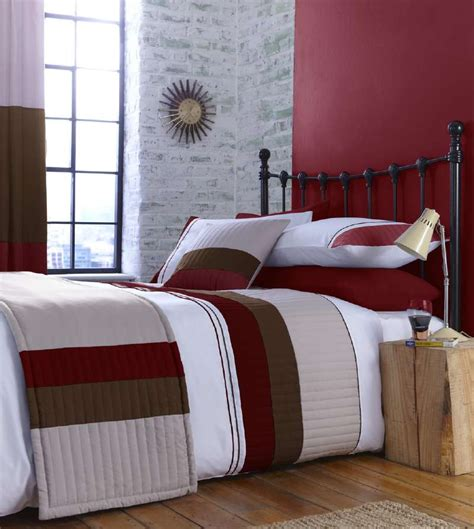Bedroom Drapes And Bedspread - beige and stripe bedding or curtains or