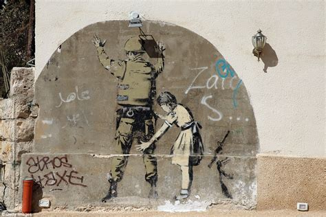 Banksy Left Bridge Farm Primary A Playground Mural To Say