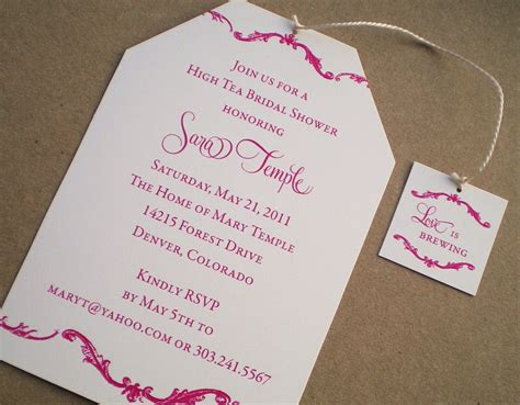 High Tea Bridal Shower Invitations By Ideachic On Etsy