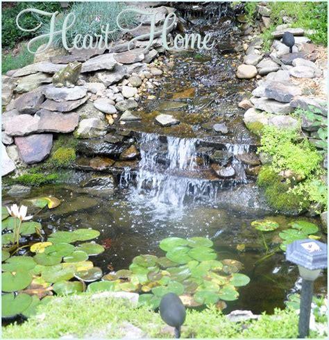 backyard waterfall pond diy backyard waterfall pond