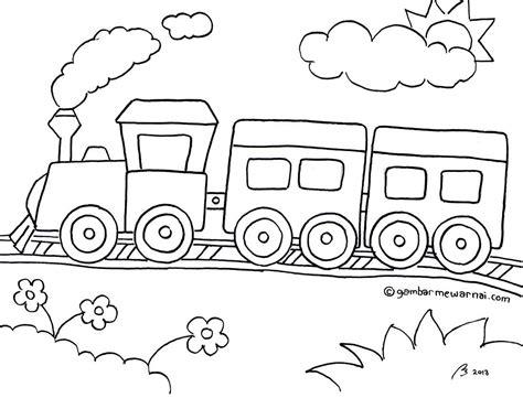 Coloring Kereta Api gambar mewarnai kereta api untuk anakku projects to try
