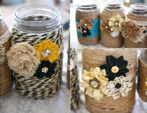 Home Decor Jars : 16 Lovely And Cute Mason Jar Crafts You Can Make Easily
