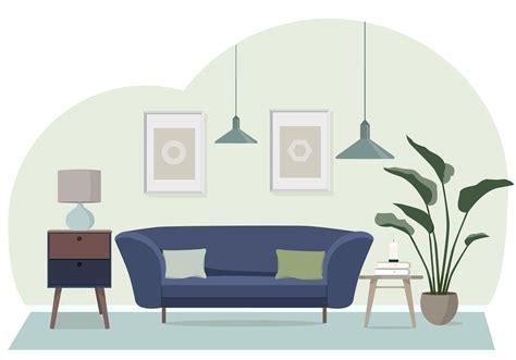 vector living room illustration   vectors