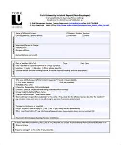 Sample Incident Report Template