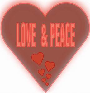 Love And Peace : onlinelabels clip art love and peace in a heart ~ A.2002-acura-tl-radio.info Haus und Dekorationen