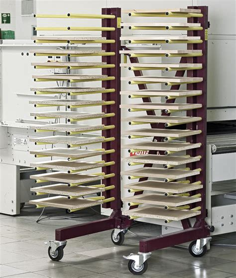 cabinet door finishing racks venjakob jowi dry rack stiles machinery