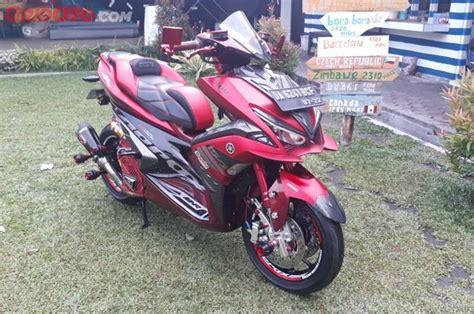 Modifikasi Aerox 155 Merah by Yamaha Aerox 155 Berlapis Karbon Merah Jadi Juara