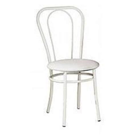 chaise de bistrot blanche chaise bistrot pvc 286251 blanc