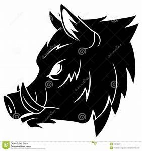 Wild Boar Stock Vector