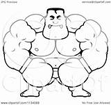 Boxer Angry Cartoon Coloring Buff Clipart Outlined Cory Thoman Vector Royalty sketch template