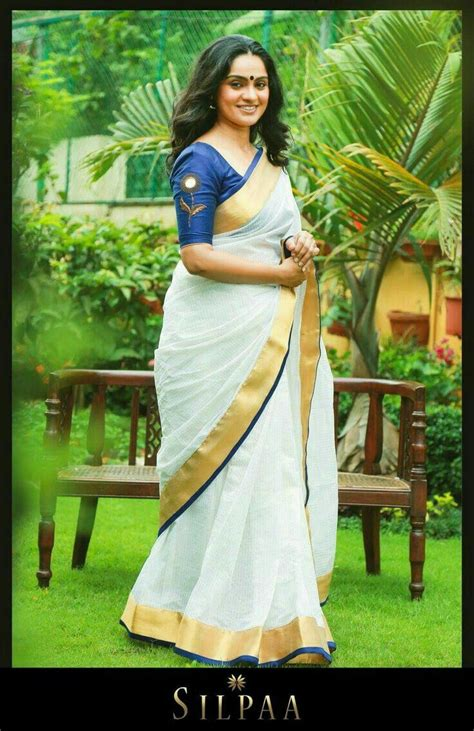 ideas  kerala saree  pinterest saree