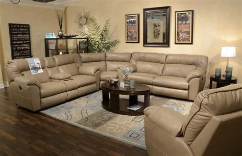 Loveseat Sectional Sofa by Catnapper Nolan Leather Sectional Sofa Set Putty Cn 4041