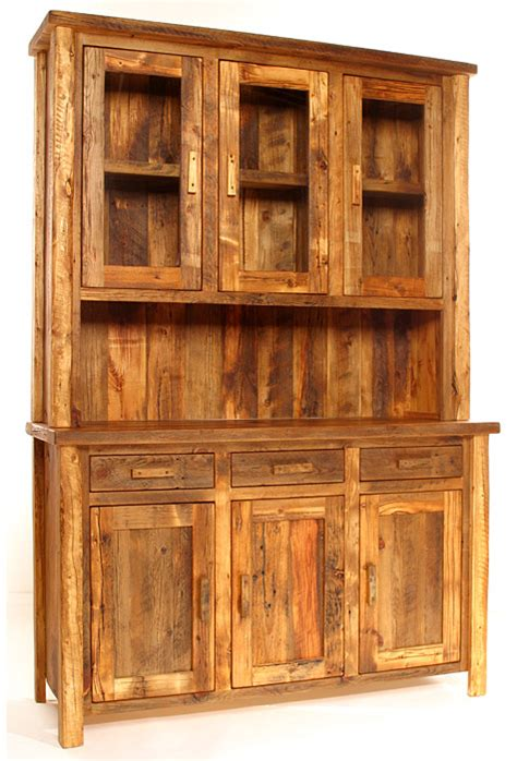 weathered timber medium buffet hutch