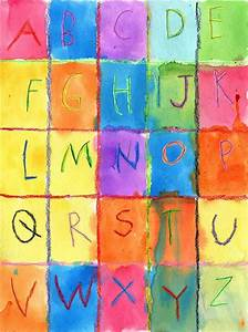 art projects for kids watercolor alphabet children39s With letter art for kids