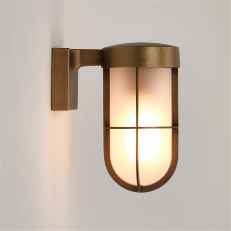 astro lighting 7850 cabin frosted glass wall light in