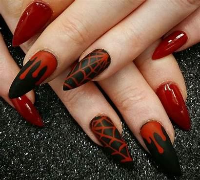 Nail Halloween Nails Designs Gel Spooky Acrylic