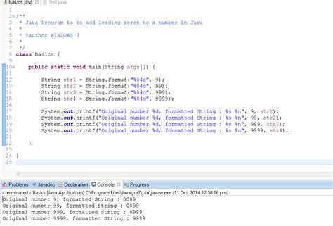 java string template 2 exles to add zeros at the beginning of a number in java padding java67