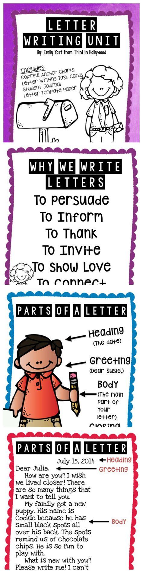 letter writing unit core writing teaching writing