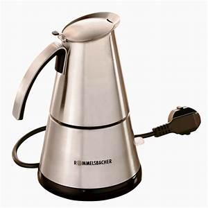 Espressokocher Edelstahl Elektrisch : elektrischer espresso kocher klein von rommelsbacher eko 364 ~ Watch28wear.com Haus und Dekorationen