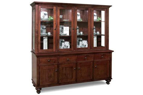 Georgetown 4-drawer 4-door Buffet & Hutch With Glass Shelves