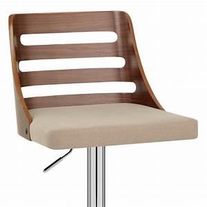 Chaise Bar Bois : chaise de bar bois tissu muse monde du tabouret ~ Teatrodelosmanantiales.com Idées de Décoration
