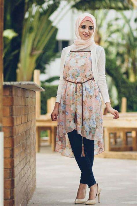 comment porter une robe tunique avec le hijab