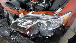 Toyota Camry Headlight And Foglight Removal  2012