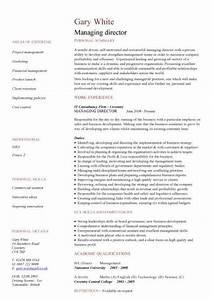 managing director cv sample managerial cvs curriculum With director resume template