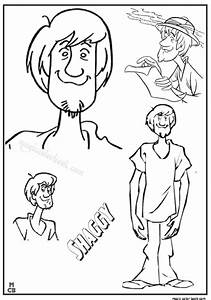 Shaggy Scooby Doo free coloring pages.