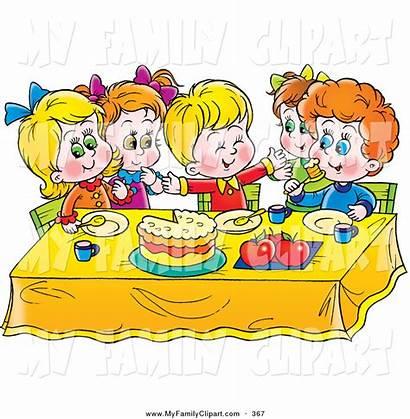 Eating Clipart Table Eat Clip Children Dinner