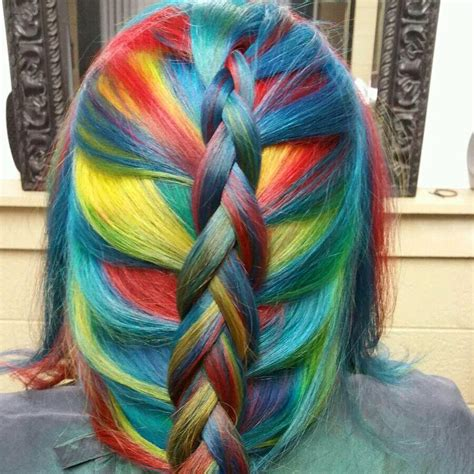 Rainbow Hair In Primary Colors Hair Colors Ideas