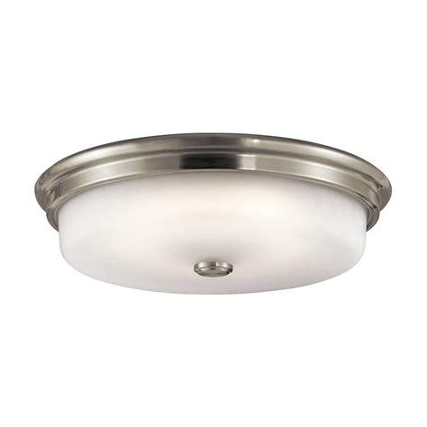 single bulb flush mount light shop kichler 16 in w brushed nickel led flush mount light