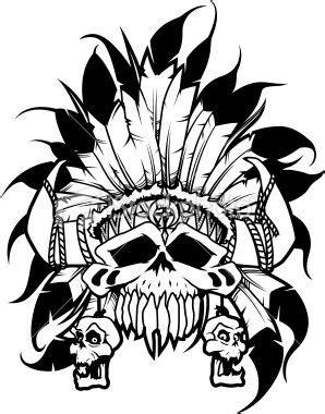 Warrior Skull   Indian skull, Native american tattoo symbols, Skull sticker