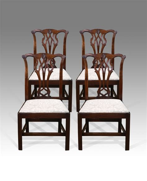 antique mahogany dining chairs chippendale chairs