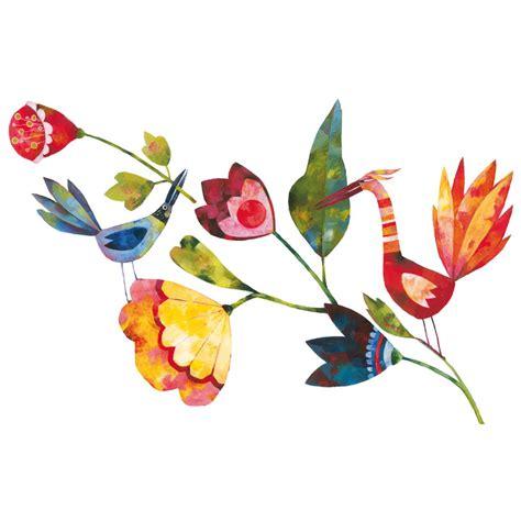 adesivi fiori adesivo murale blanz fiori wall it