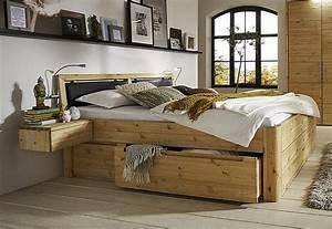 Komforthöhe Bett Wie Hoch : bett 100x200 2 schubladen luxus h he 56cm mit kopfteil a 2 astkiefer massiv gelaugt ge lt ~ Markanthonyermac.com Haus und Dekorationen