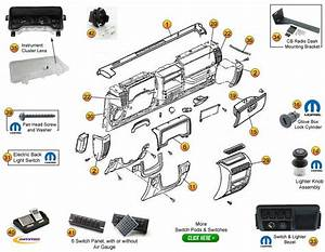 Service Manual  2006 Jeep Wrangler Dash Removal Diagram