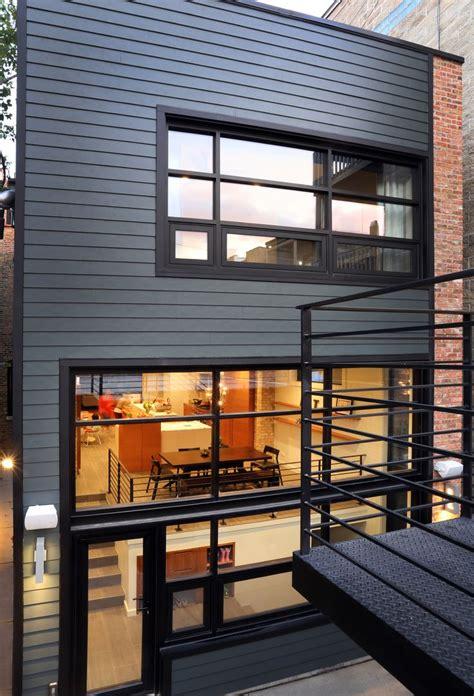 mix  match furniture   modern home grey james hardie  window