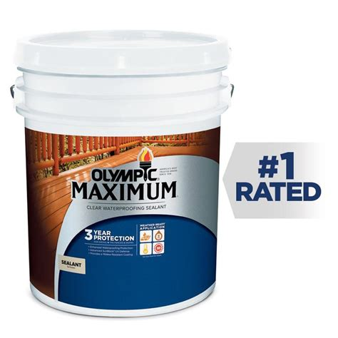 shop olympic maximum clear exterior stain actual net