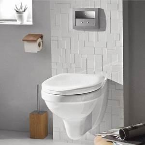 Deco Wc Gris : d co wc design avec cuvette wc suspendu d co cool ~ Melissatoandfro.com Idées de Décoration