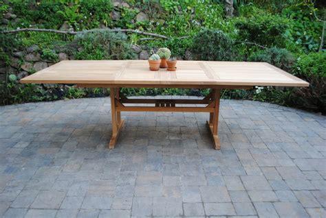 rectangle double extension table paradise teak